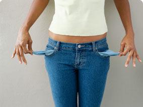 woman empty pockets