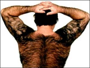 man hairy back