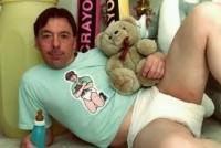 man wearing diaper