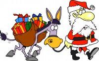 santa donkey