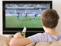 man watching sports