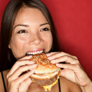 woman eating burger 2