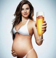 woman pregnant drinking