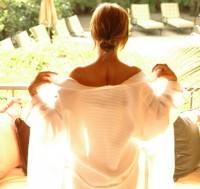 woman robe