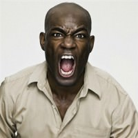 man black yelling