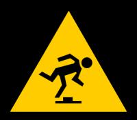 man stumbling