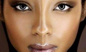 woman bleaching skin