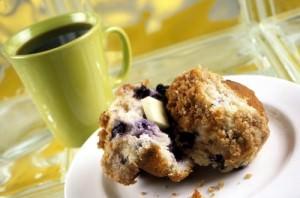 coffee blueberry muffin
