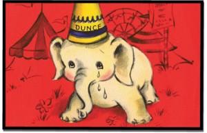 elephant dunce cap