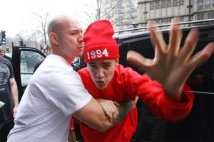 justin bieber angry