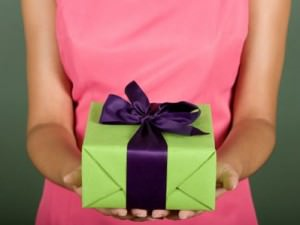 woman giving gift 2