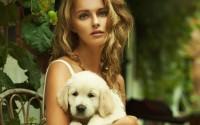 woman puppy