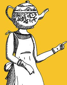 woman teapot head