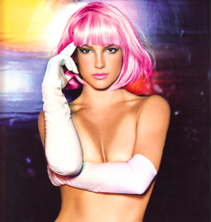 Britney Spears pink wig