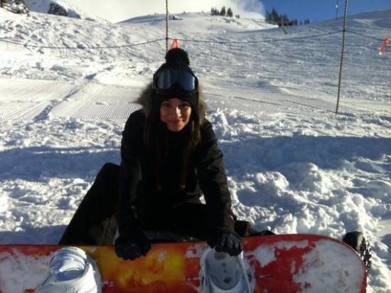lea michele snowboard