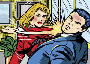 woman slapping