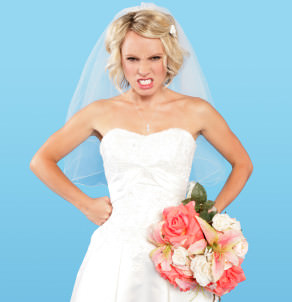 bride angry