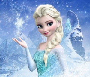 blonde woman frozen