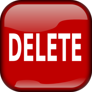 delete button