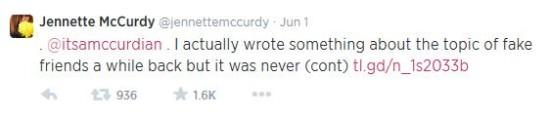 jenette mccurdy tweet