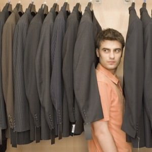 man hiding in closet