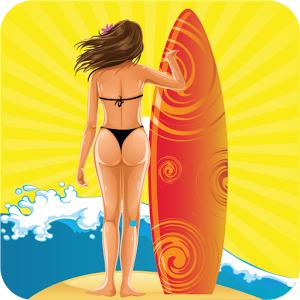 girl surfing