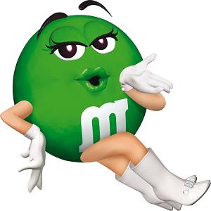 green mandm