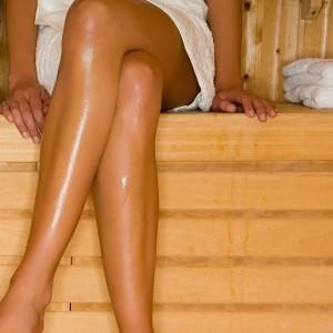 woman sauna