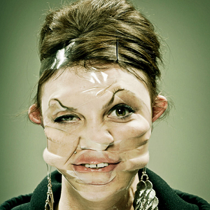 woman plastic face 1