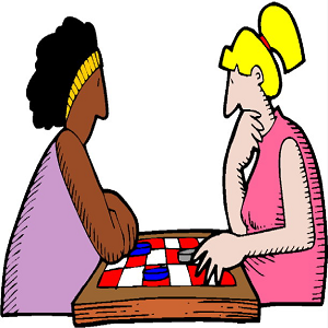 women playing game