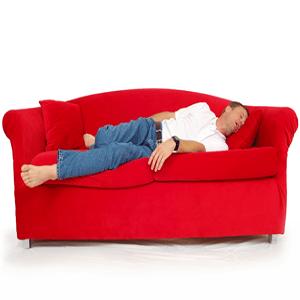 man sleeping on sofa 1