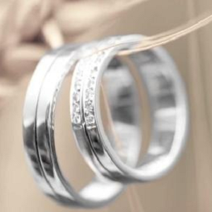 wedding rings on string