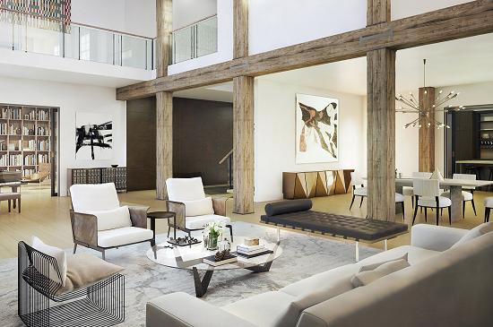 443 greenwich living room
