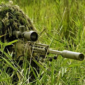 sniper hiding in grass