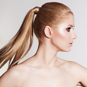 woman ponytail