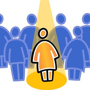 person spotlight
