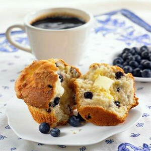coffee blueberry muffin 3