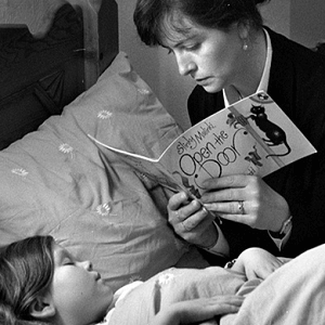 mother reading story