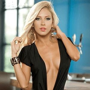 woman plunging neckline