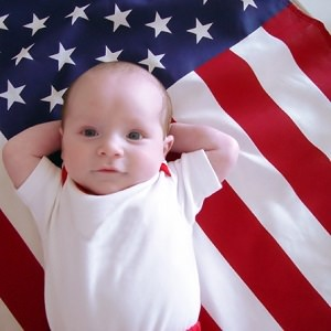 baby american flag