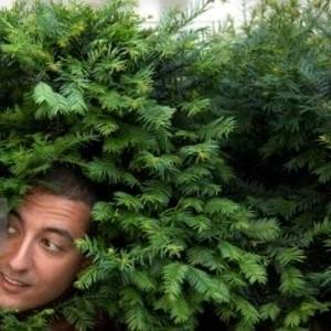man in bushes 2