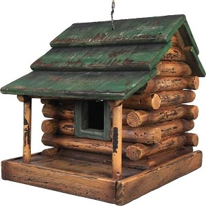 birdhouse log cabin