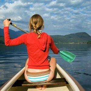 woman canoe
