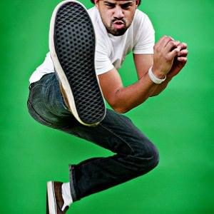 man kicking 1