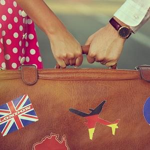 couple suitcase