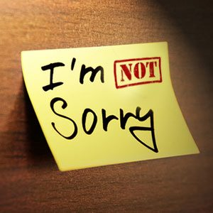 not-sorry-post-it