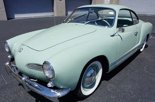 car 1962 vaokswagon karmann ghia powder blue