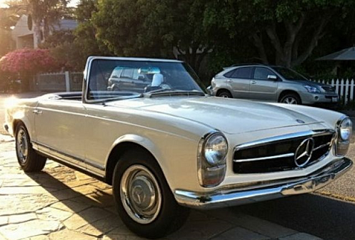 car 1965 mercedes convertible