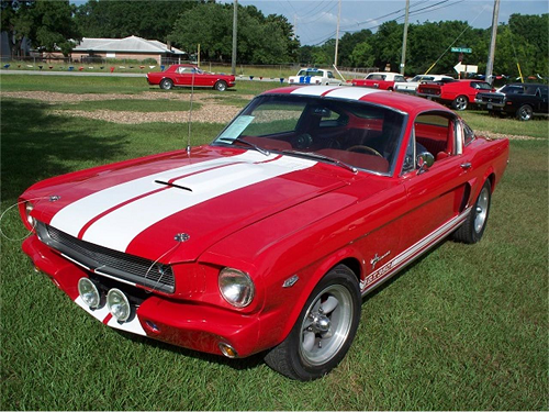 1965 ford mustang candy apple red