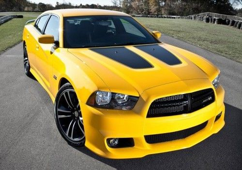 car dodge charger yellow